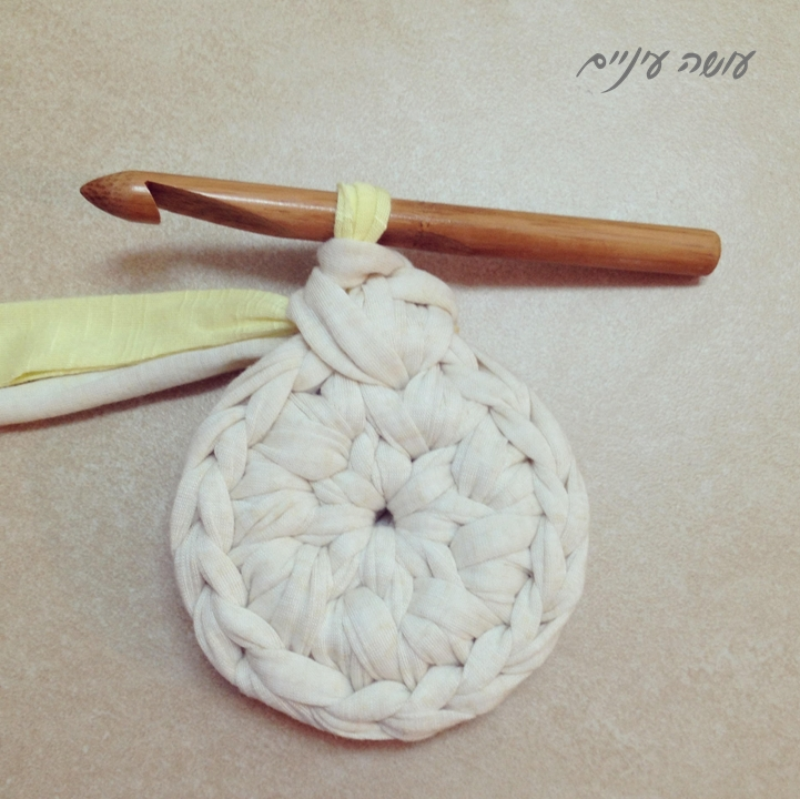 עושה עיניים - טכניקת שטיח טפסטרי מחוטי טריקו || OsaEinaim - T-shirt yarn tapestry rug technic
