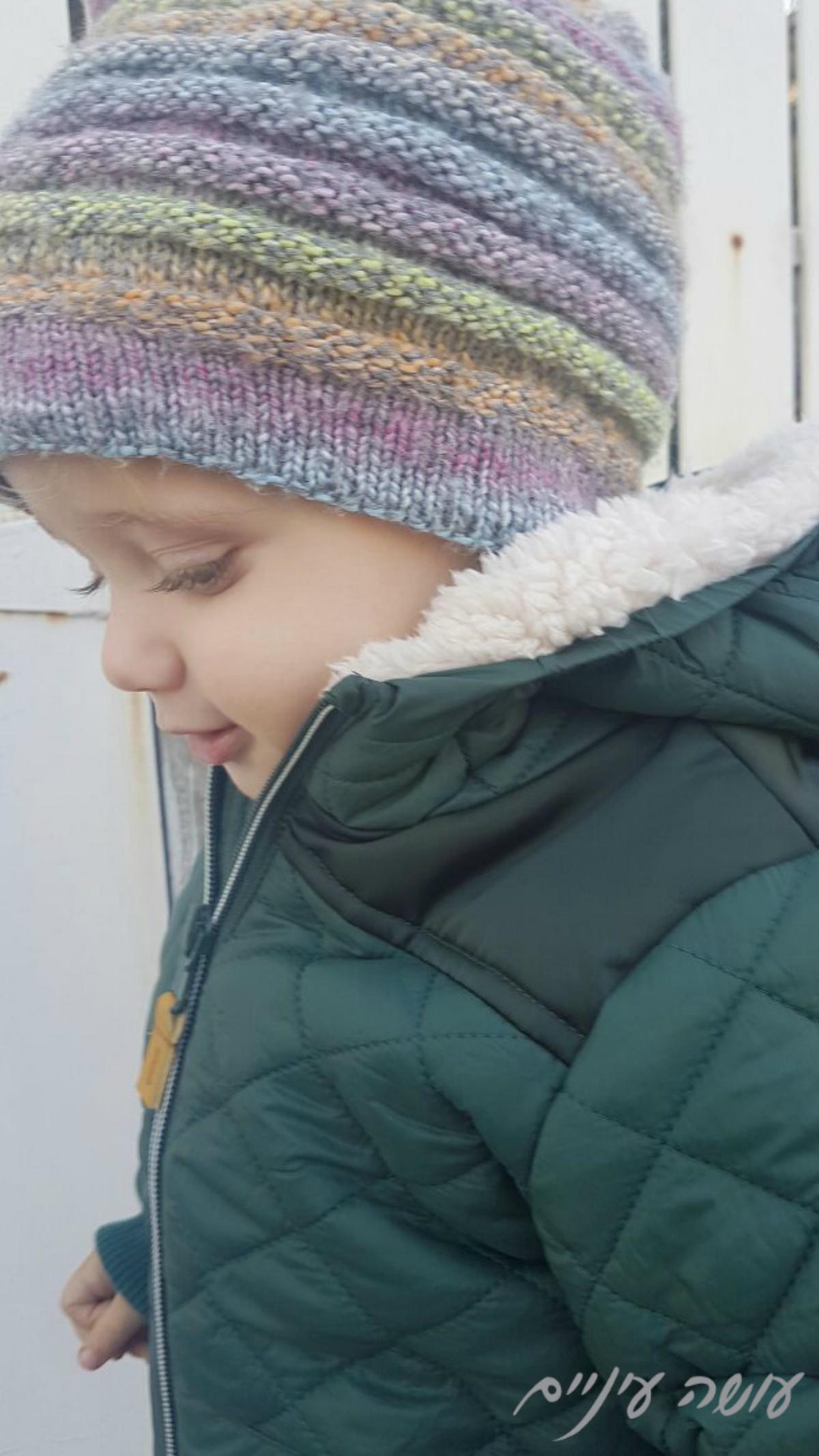 עושה עיניים - כובע סרוג בשתי מסרגות || Osa Einaim - knitted hat